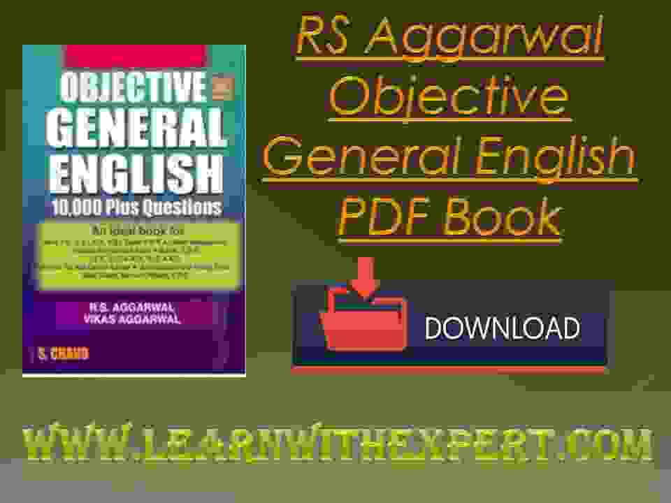 Book objective rs aggarwal general pdf english