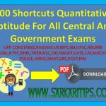100 Shortcuts Quantitative Aptitude Maths Trick