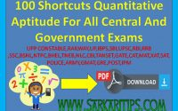 100 Shortcuts Quantitative Aptitude Maths Trick