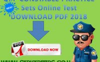 UPP CONSTABLE PRACTICE Sets Online Test DOWNLOAD PDF 2018