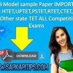 Hindi Model sample Paper