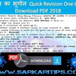 Important Short Notes Geography One Liner Hindi