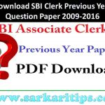 Download SBI Clerk Previous Year Question Paper