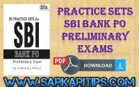 Practice Sets SBI Bank PO Preliminary Exams