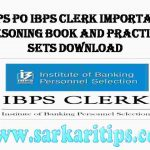 IBPS PO IBPS Clerk Important Resoning Book