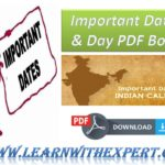 Important Dates & Day PDF Book