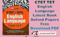 CTET TET English Language Latest Book Solved Papers