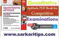 Quantitative Aptitude PDF Book for Competitive Examinations