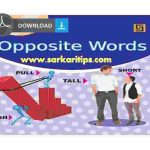 1000 Opposite Words List PDF Book in English Download