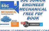 SSC Junior Engineer Mechanical Free PDF Book