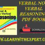Verbal Non Verbal Reasoning PDF Book