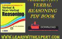 Verbal Non Verbal Reasoning PDF Book