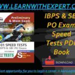 IBPS & SBI PO Exam Speed Tests PDF Book