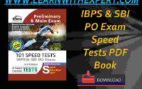 IBPS & SBI PO Exam Speed Tests PDF Book