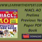 NIACL AO Prelims Previous Year Paper PDF Book