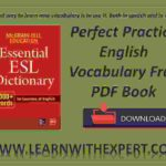 Perfect Practice English Vocabulary Free PDF Book