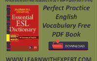 Perfect Practice English Vocabulary Free PDF Book