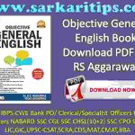 Objective General English Book Download PDF By RS Aggarawal