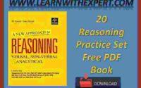 20 Reasoning Practice Set Free PDF Book