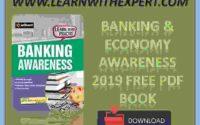 Banking & Economy Awareness 2019 Free PDF Book