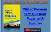 Download NDA Exam Previous Year Paper PDF Book