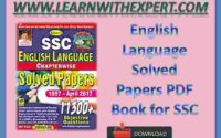 English Language Solved Papers PDF Book for SSC