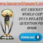 ICC Cricket World Cup 2019 Related Question PDF Book