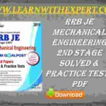 RRB JE Mechanical Engineering 2nd Stage Solved & Practice Tests PDF