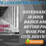Governance In India Basics And Beyond PDF Book For Civil Services