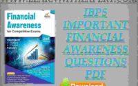 IBPS Important Financial Awareness Questions PDF