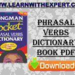 Phrasal Verbs Dictionary Book PDF