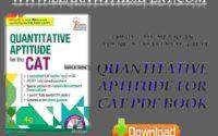 Quantitative Aptitude for CAT PDF Book