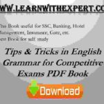 Tips & Tricks in English Grammar for Competitive Exams PDF Book