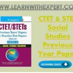 CTET & STET Social Studies Previous Year Paper
