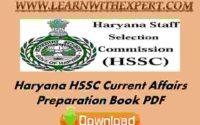 Haryana HSSC Current Affairs Preparation Book PDF