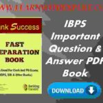 IBPS Important Question & Answer PDF Book