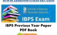 IBPS Previous Year Paper PDF Book
