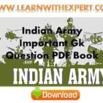 Indian Army Important Gk Question PDF Book
