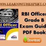 RBI Officer Grade B Exam Guide PDF Book