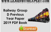 Railway Group D Previous Year Paper 2019 PDF Book