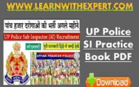 UP Police SI Practice Book PDF
