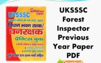 UKSSSC Forest Inspector Previous Year Paper PDF