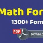 Important Maths Formulas PDF Book Download For All Competitive Exams