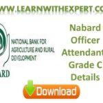 Nabard Officer Attendants Grade C Details