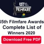 65th Filmfare Awards List 2020