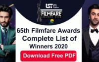 65th Filmfare Awards List 2020