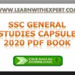 SSC General Studies Capsule 2020 PDF Book