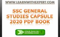 SSC General Studies Capsule 2020 PDF Book