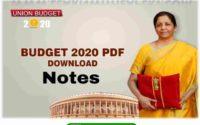 Summary of Union Budget 2020 - 21