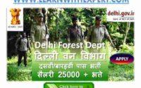 Delhi Forest Guard Model Paper PDF Download